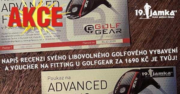 AKCE: Napiš recenzi vybavení za poukaz na fitting od GolfGear.cz (do 30.6.2020)