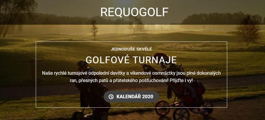 Requo Golf - pohodové turnaje nejen pro členy 19.jamky