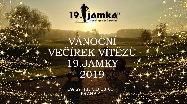 VÁNOČNÍ VEČÍREK VÍTĚZŮ 19.JAMKY 2019 - pá 29.11. Praha, Krč (Na Ledárnách) od 18:00